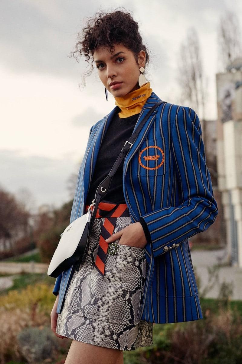 Calvin Klein 205W39NYC Striped Wool Jacket