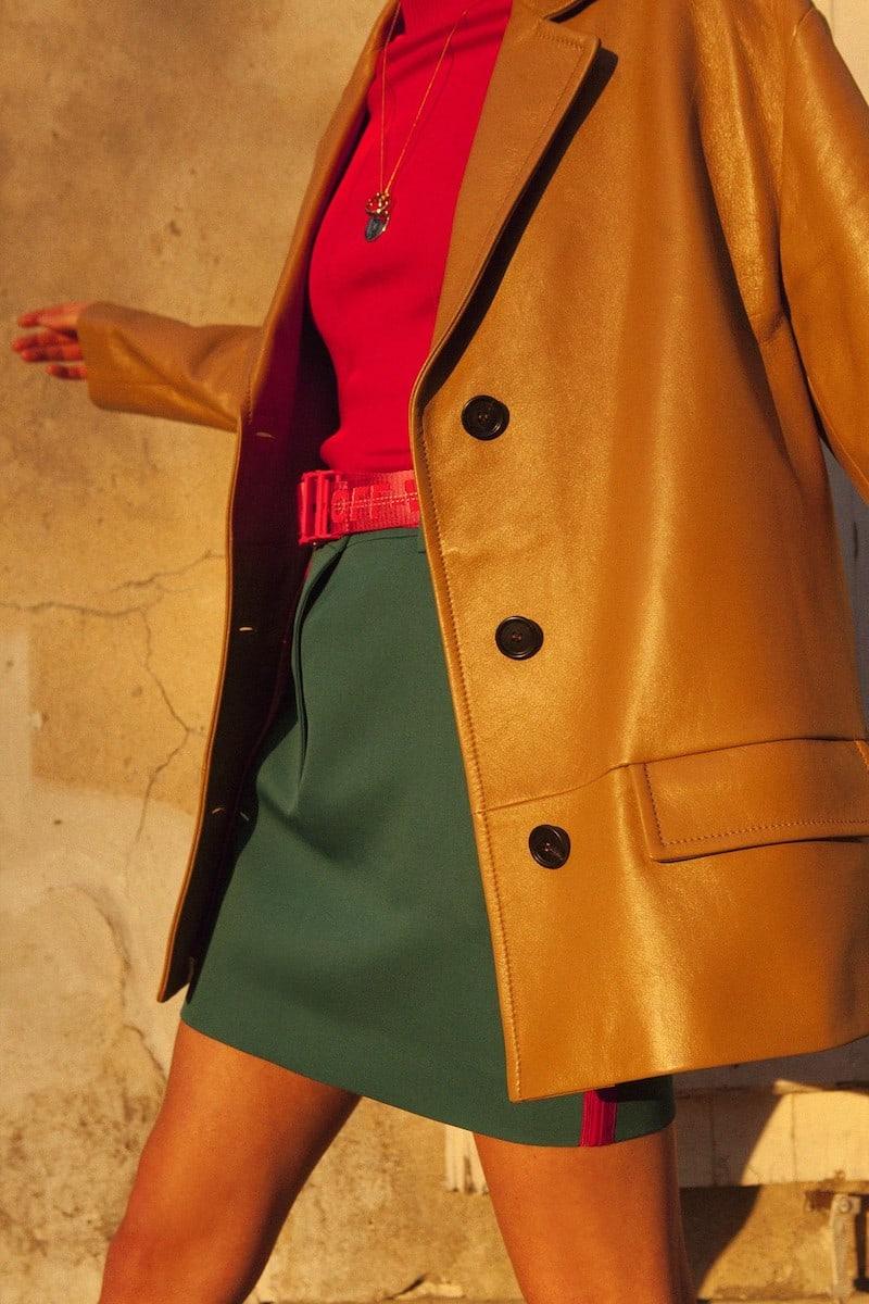 Calvin Klein 205W39NYC Wool Gabardine Miniskirt