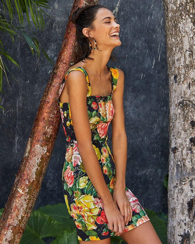 Dolce & Gabbana Floral-Print Cotton Mini Dress