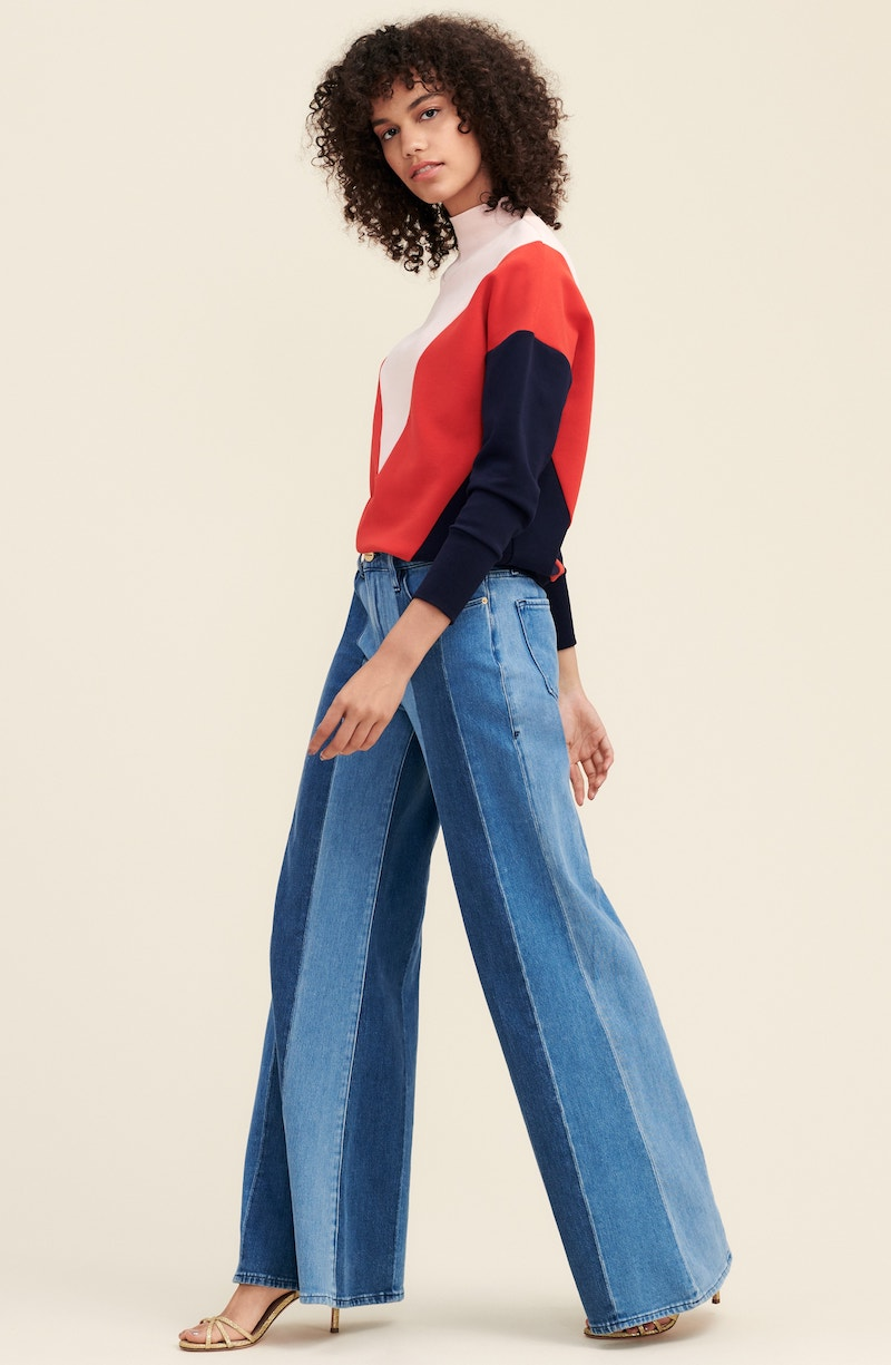FRAME Le Palazzo Paneled Wide Leg Jeans
