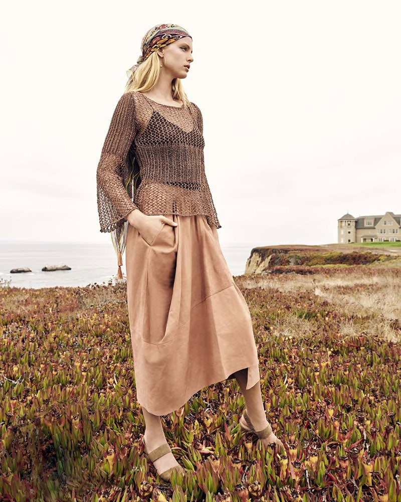 Gentry Portofino Two-Piece Metallic Netted Sweater & Camisole Set