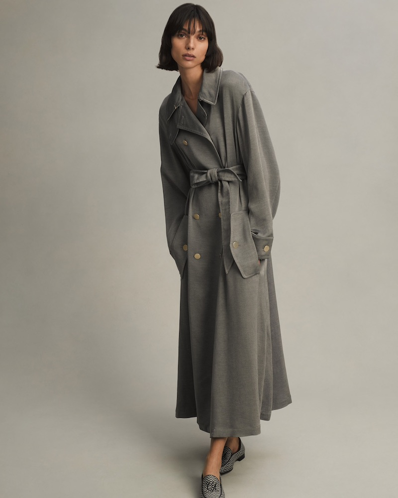 Giorgio Armani Cotton-Blend Double-Breasted Trench Coat