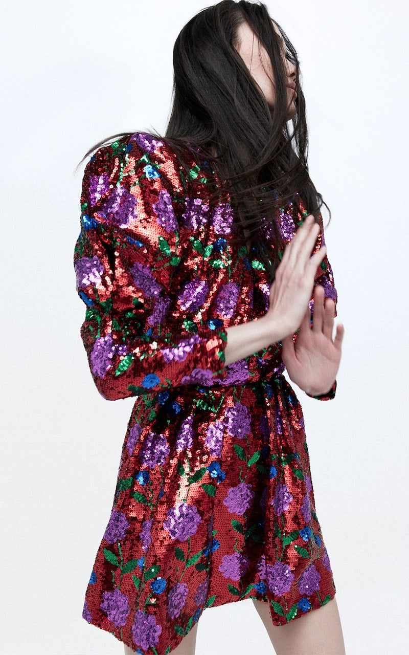 Giuseppe di Morabito Sequined V Neck Mini Dress