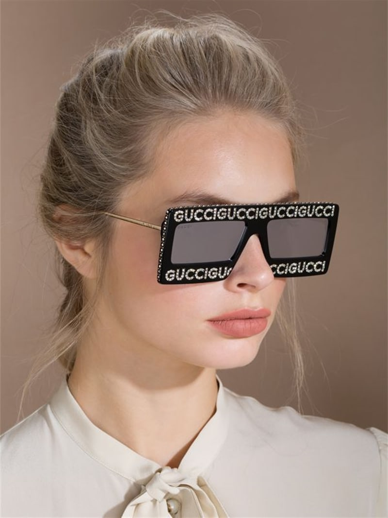 Gucci Gucci Crystals Square Sunglasses