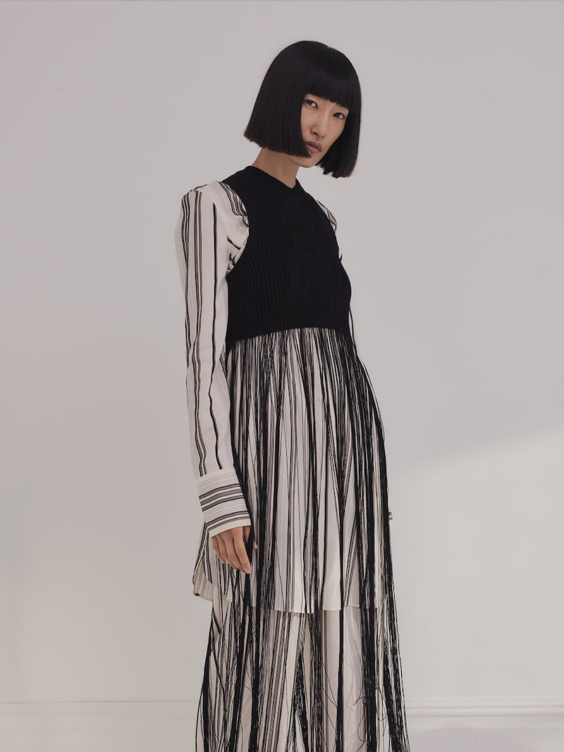Jil Sander Fringed Ribbed-knit Top
