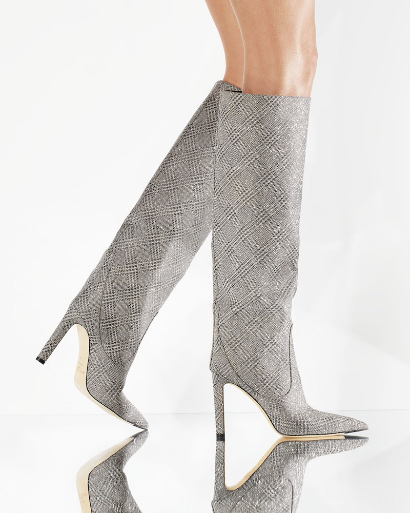 Jimmy Choo Mavis Plaid Glitter Over-the-Knee Boots