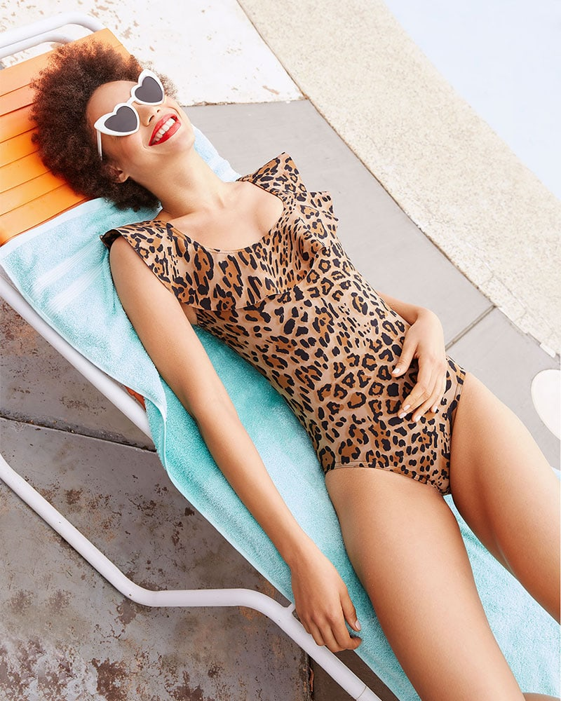 Karla Colletto Leopard One Piece