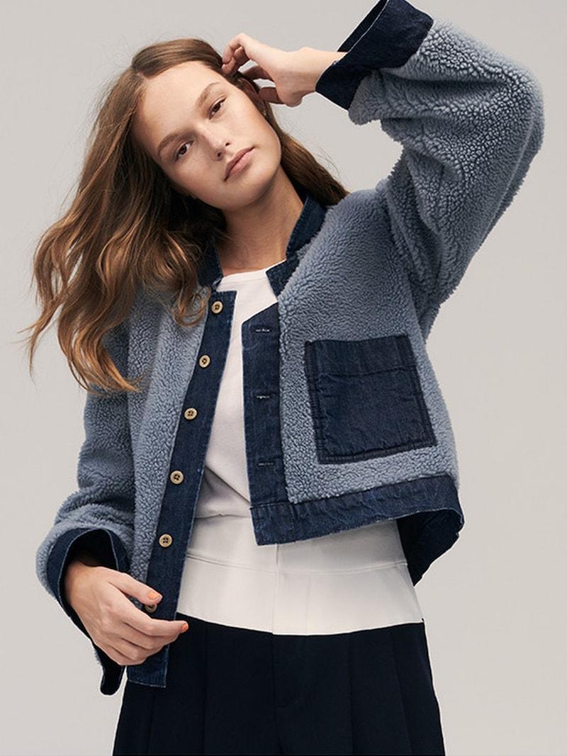 Madewell Reversible Fleece Jean Jacket