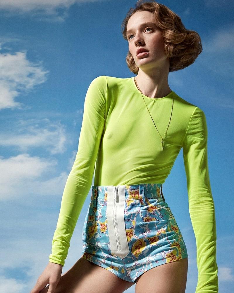 Maison Margiela Sheer Stretch Tulle Bodysuit