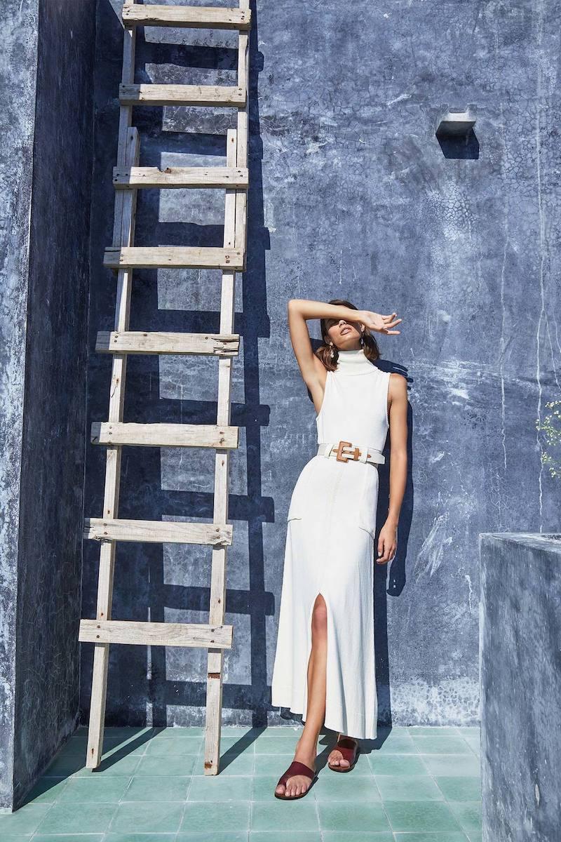 Mara Hoffman Elle Cotton-Jersey Turtleneck Dress