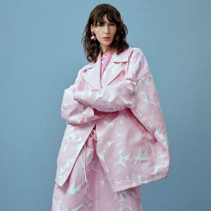 Marni Avery Floral-Jacquard Coat