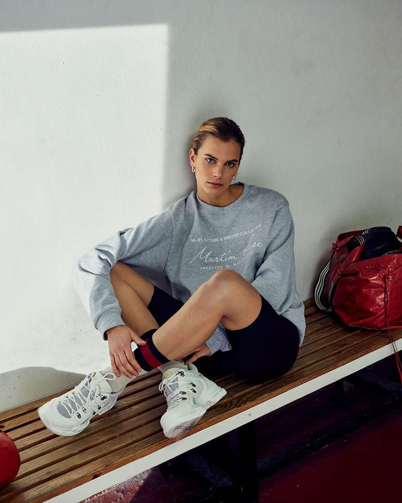 Martine Rose Logo-Print Cotton Sweatshirt