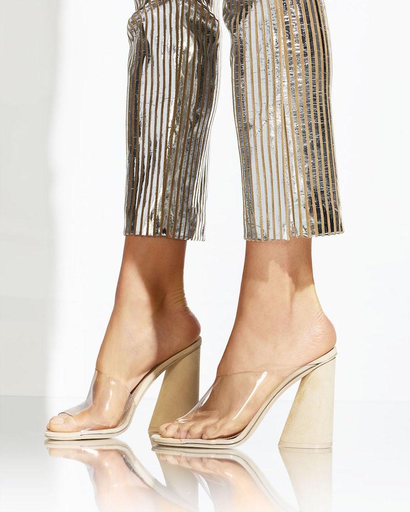 Mercedes Castillo Kuri Transparent Slide Sandals