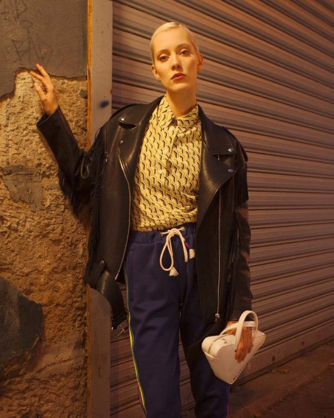 Miu Miu Oversize Leather Jacket