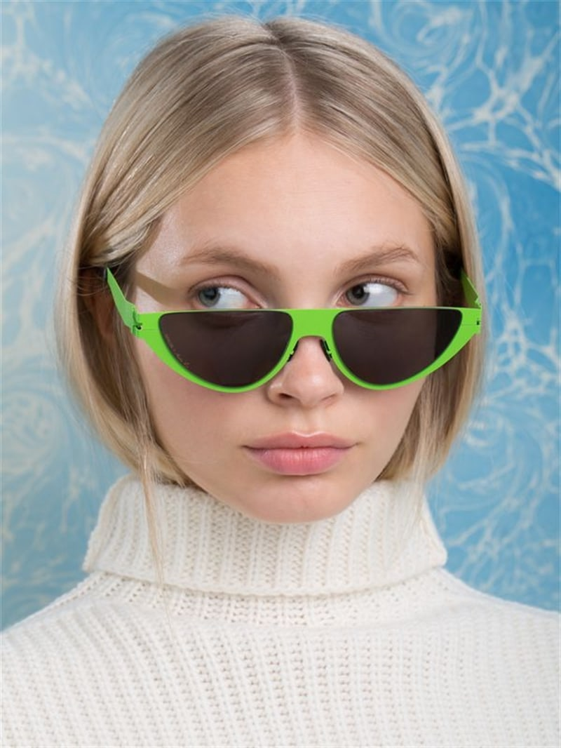Mykita Martine Rose Kitt New Lime Sunglasses