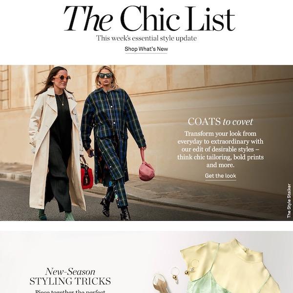 NET-A-PORTER The Chic List January 27, 2019