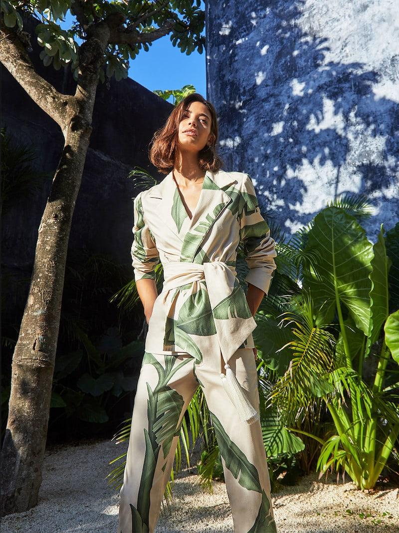 Johanna Ortiz Seriously Tropical Printed Cotton-Sateen Blazer