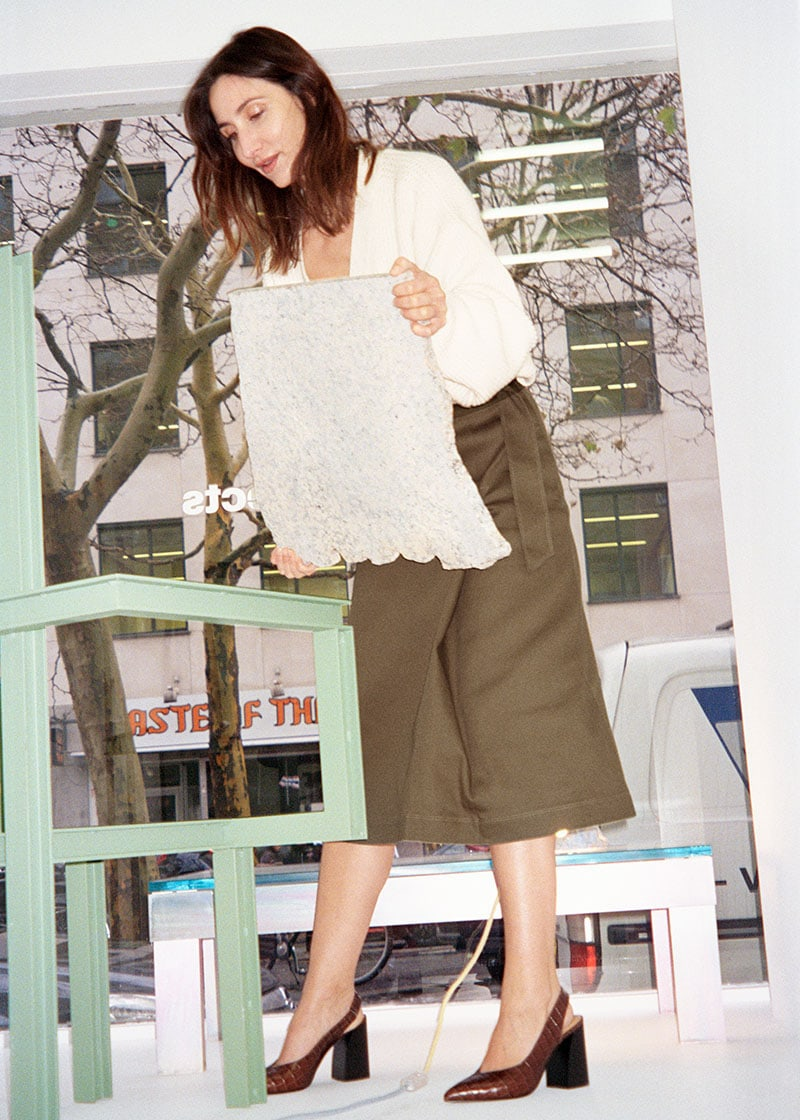 & Other Stories Belted A-Line Midi Skirt
