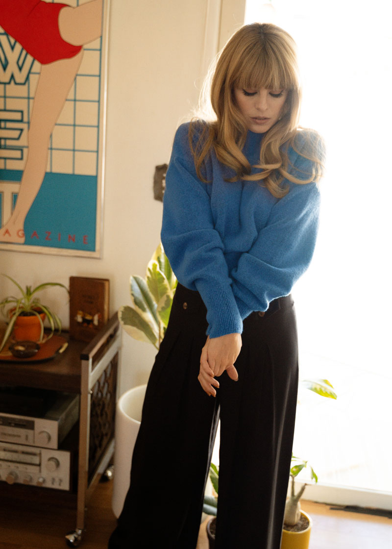 & Other Stories Mock Neck Sweater