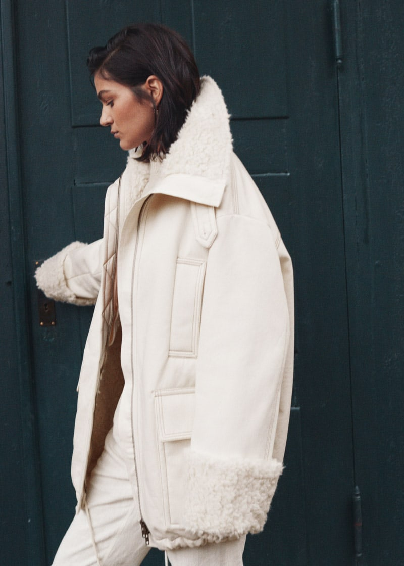 & Other Stories Oversized Faux Shearling Parka