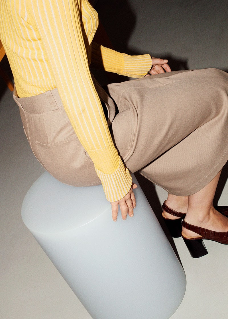 & Other Stories Wide Stretch Wool Pants