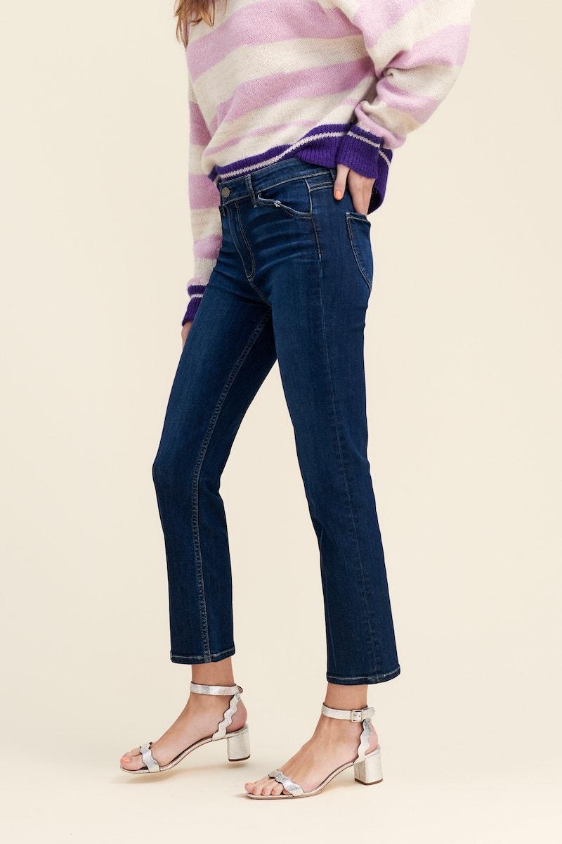 PAIGE Transcend Vintage - Hoxton High Waist Ankle Straight Leg Jeans