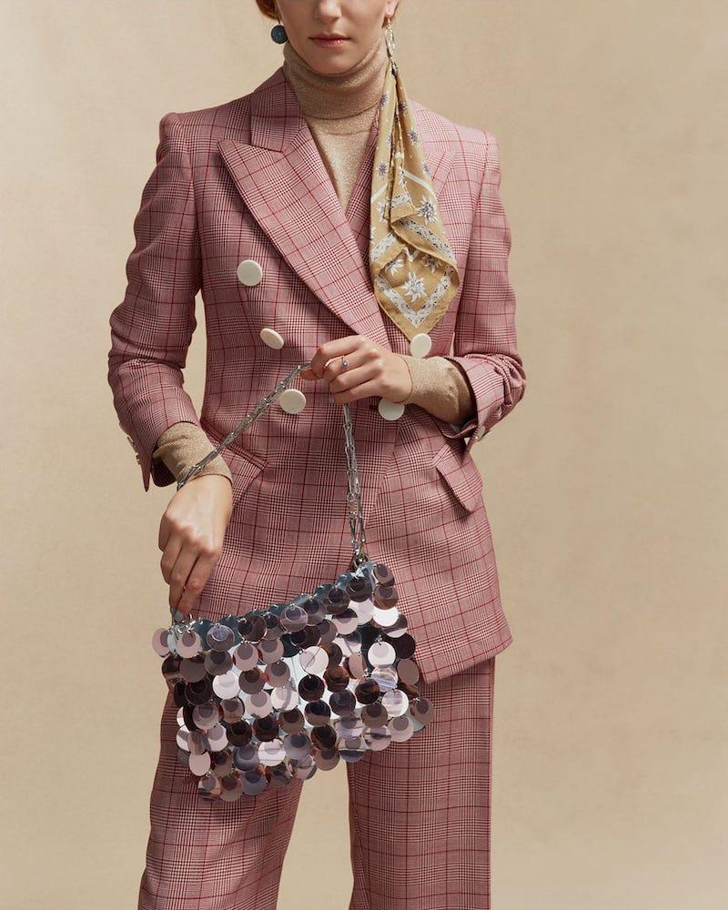Paco Rabanne Sparkle Woven Shoulder Bag
