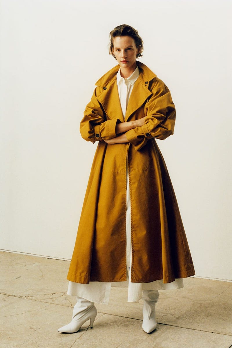 Palmer//Harding Double-Breasted Cotton Trench Coat