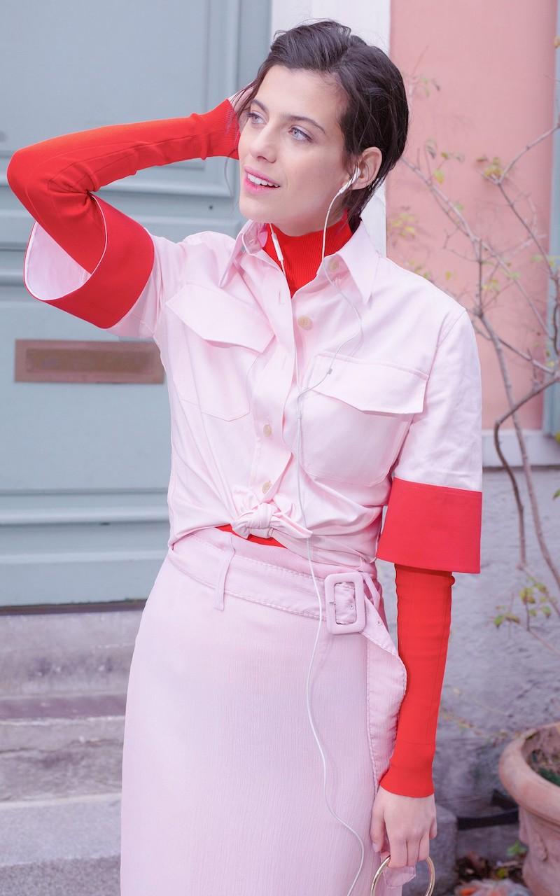Prada Silk Long Skirt