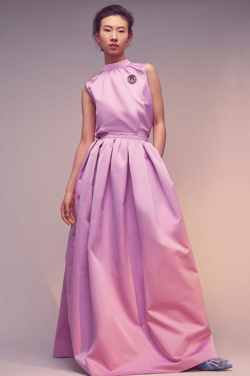 Rochas High-Rise Duchess Satin Maxi Skirt