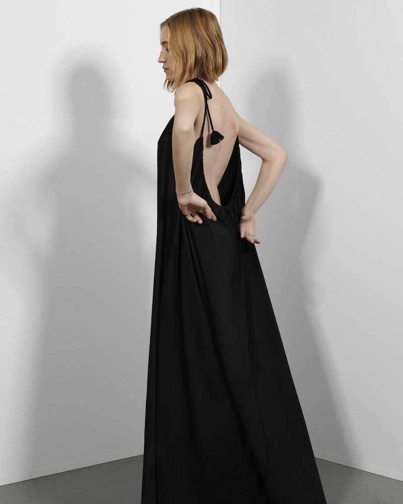 The Row Black Dresia Dress