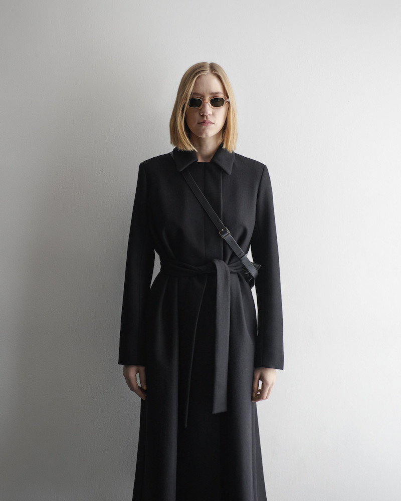 The Row Black Toomana Coat
