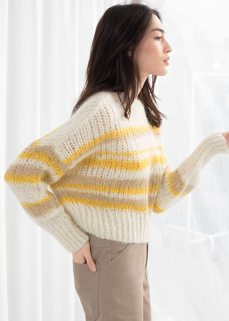 & Other Stories Wool Blend Chunky Knit Sweater