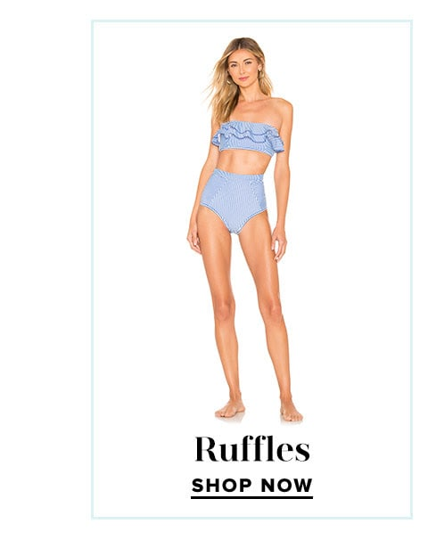 Shop Our Favorite Swim Trends: Ruffles