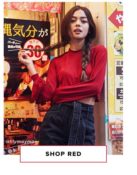 Shop red.