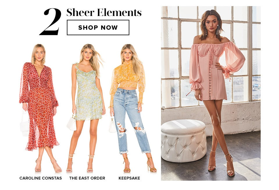 Closet Must-Haves: Sheer Elements. Shop Now.