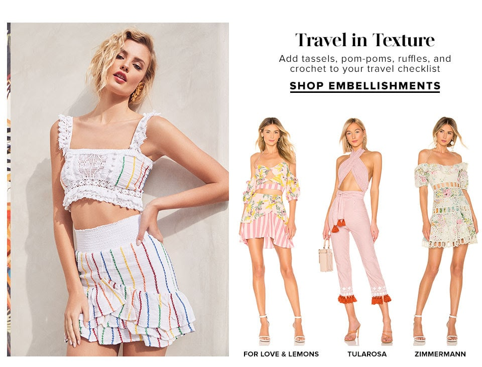 Travel in Texture. Shop Embellishments