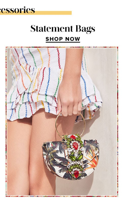 Bold accessories. Shop Statement Bags