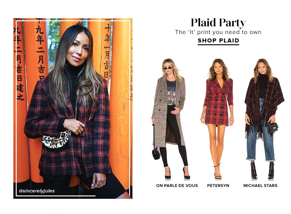 PLAID PARTY. The 'It' print you need to own. Shop Plaid.