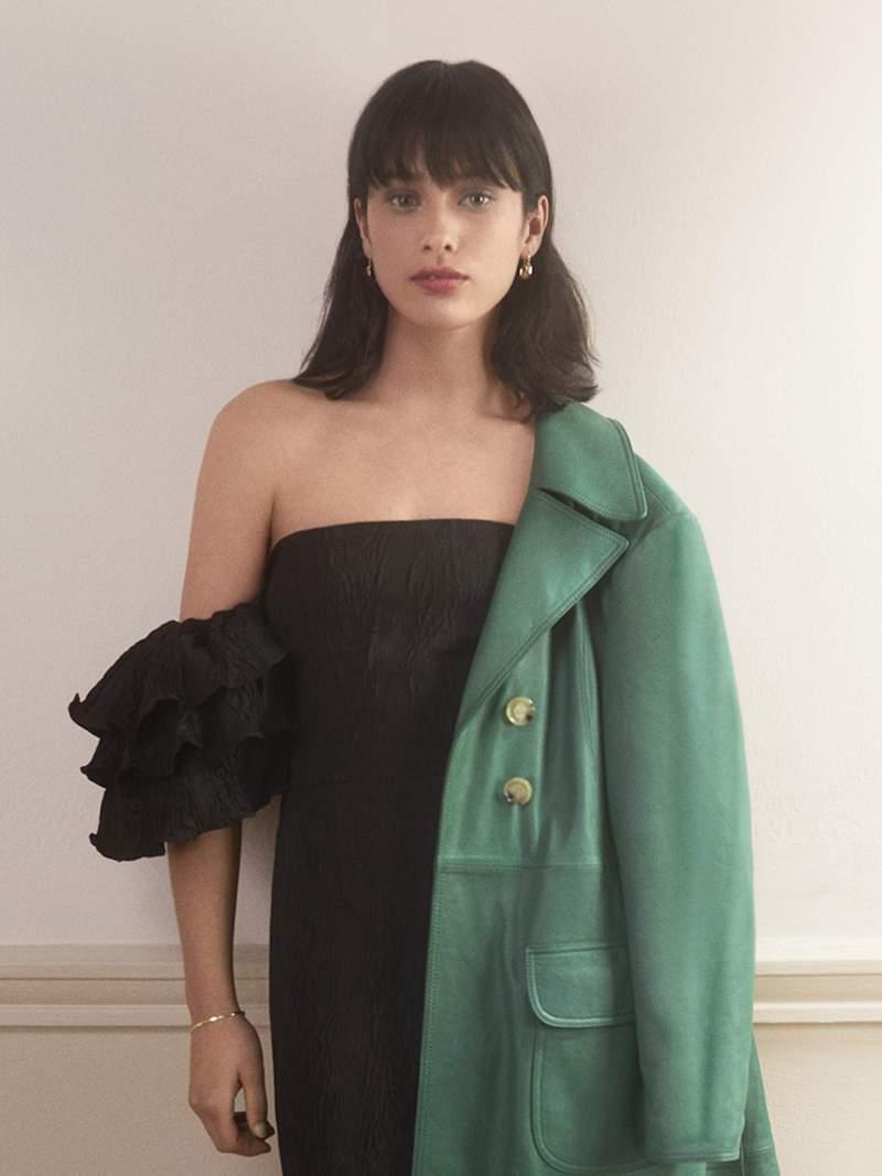 ALEXACHUNG Off-the-Shoulder Ruffled Cloqué Dress
