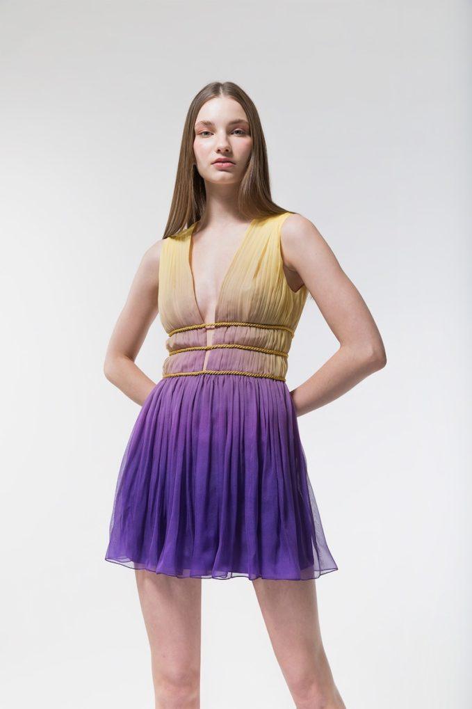 Alberta Ferretti Degradè Silk Chiffon Mini Dress 2