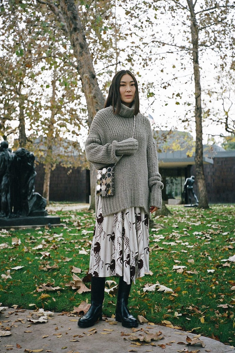 BY. Bonnie Young Cashmere-Blend Oversized Sweater
