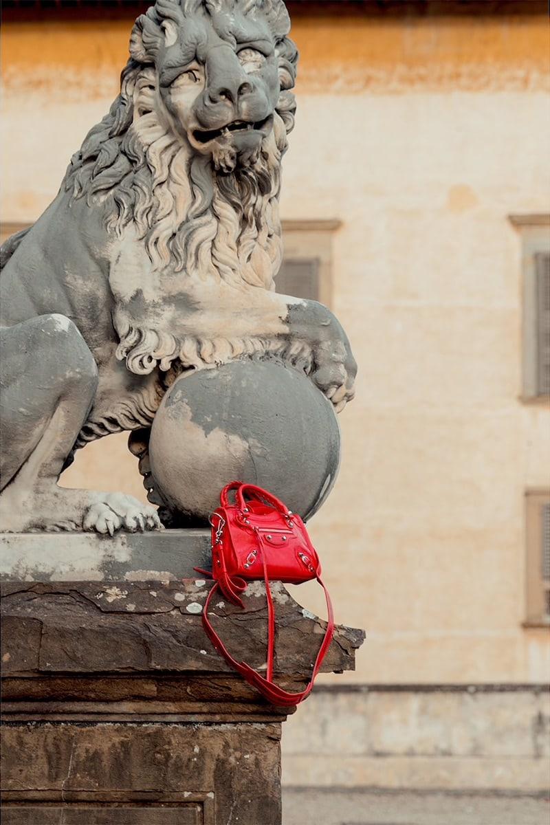 Balenciaga Mini Classic City Leather Bag in Red