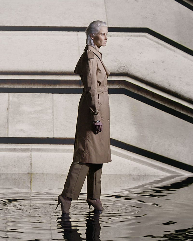Burberry Double-Breasted Cotton Gabardine Trench Coat