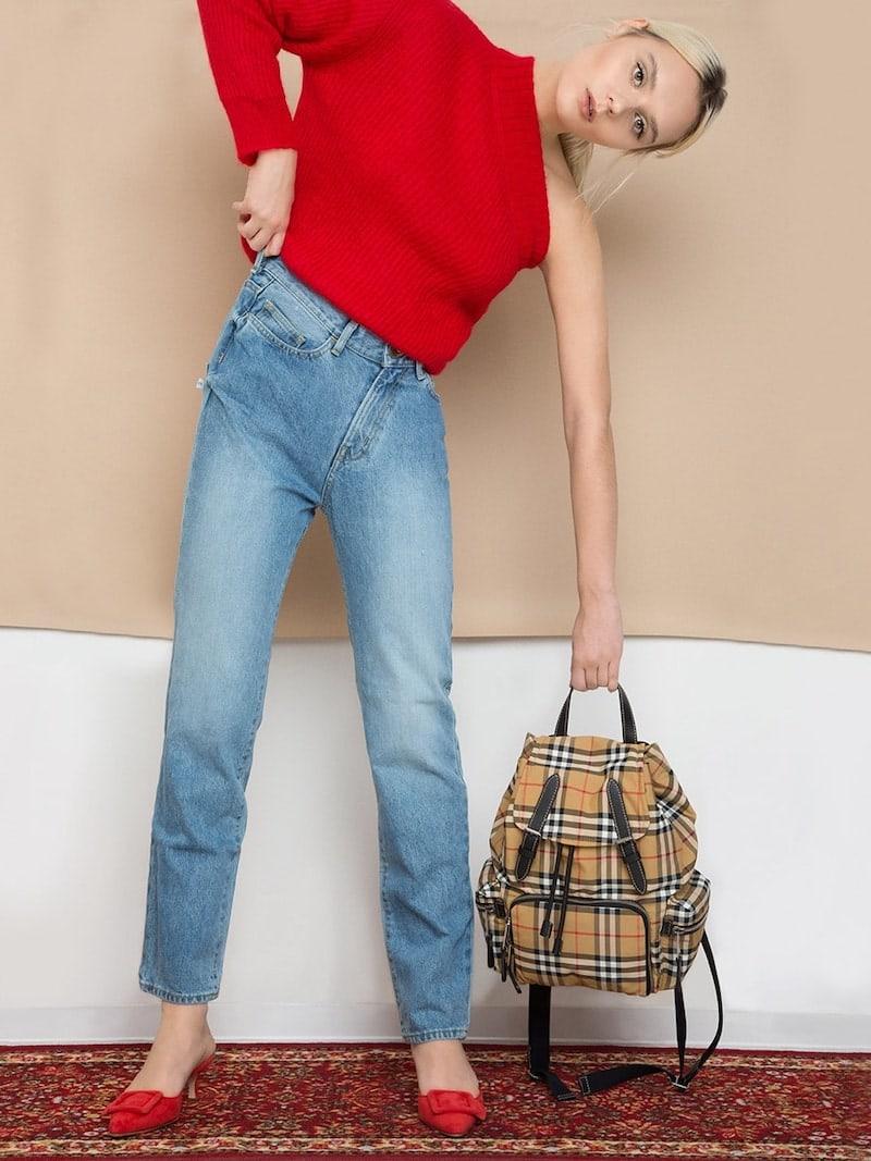 Burberry Medium Checked Nylon Backpack