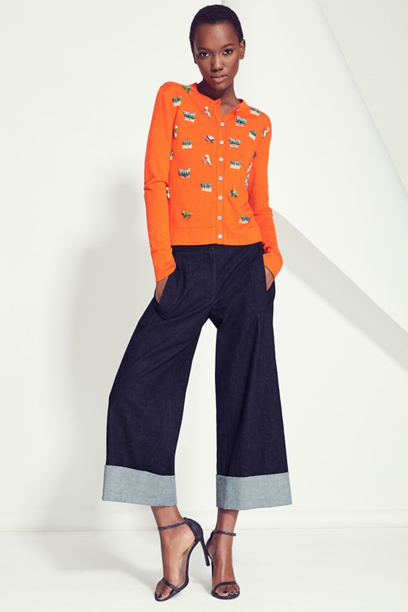 Carolina Herrera Animal-Embroidered Cashmere-Silk Cardigan