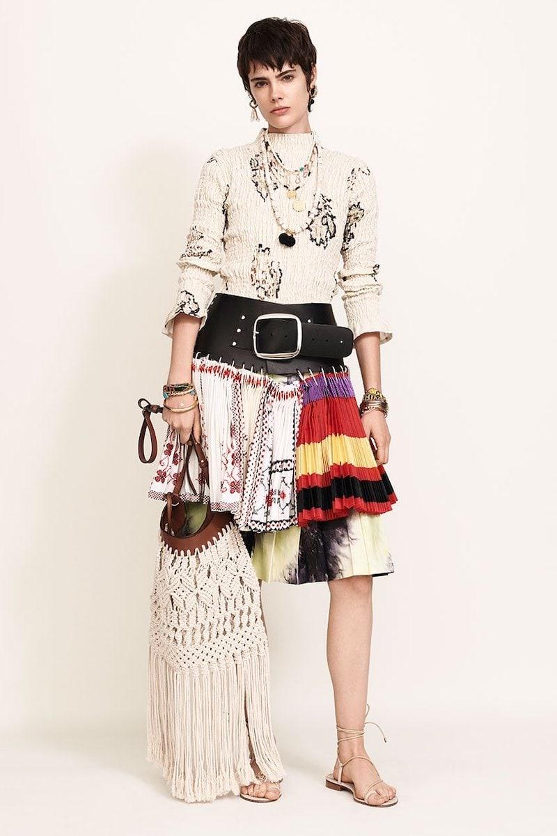 Chopova Lowena Patchwork Pleated Cotton-Blend Mini Skirt