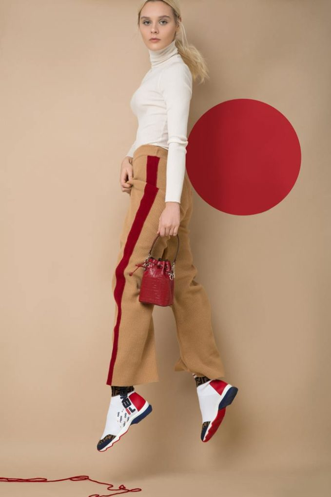 Fendi 35mm Fendi Mania Knit Sock Sneakers
