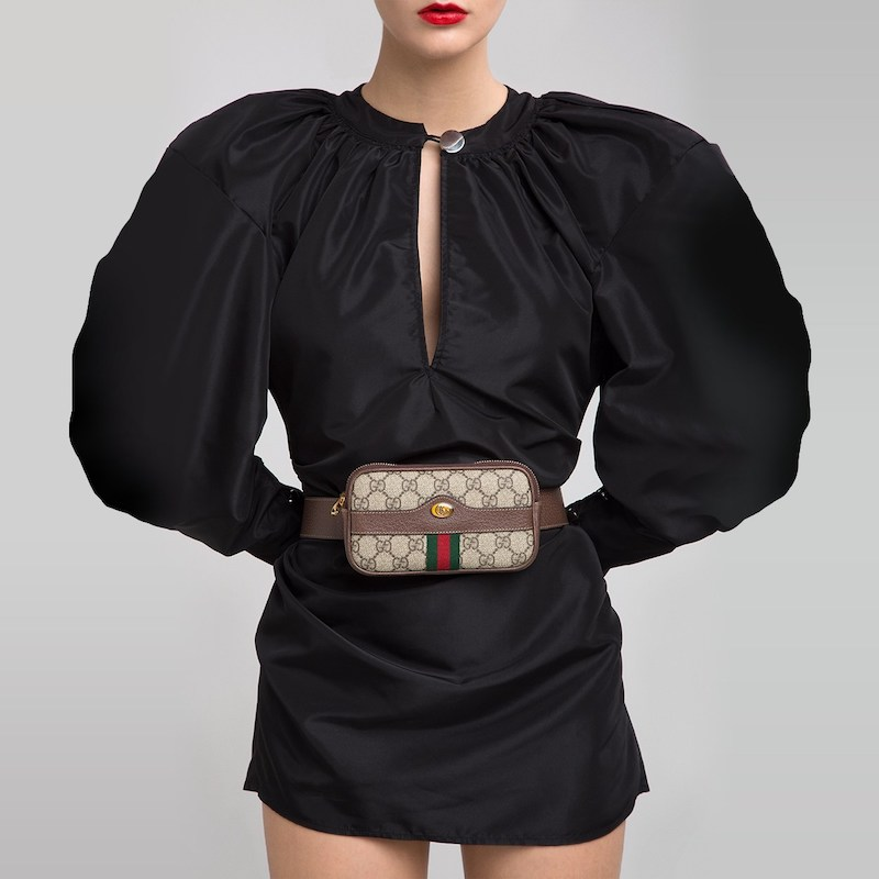 Gucci Mini Ophidia GG Supreme Belt Bag