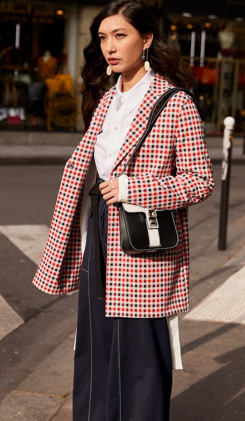 Harris Wharf London Wide Plaid Jacket